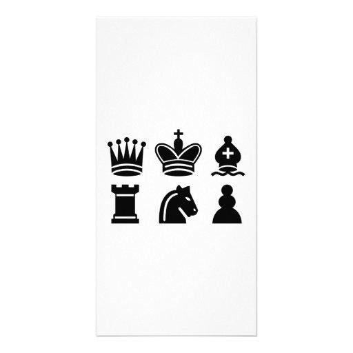 Chess game custom photo card