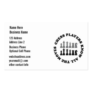 Chess Game Pieces Business Cards