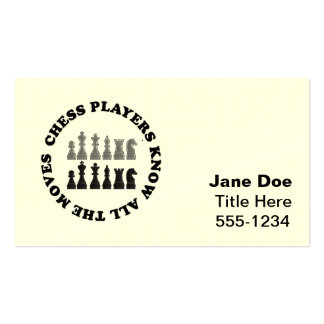 Chess Game Pieces Business Card