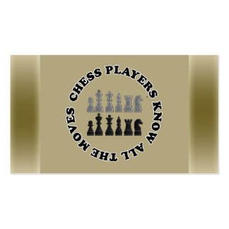 Chess Game Pieces Double-Sided Standard Business Cards (Pack Of 100)
