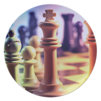 Chess Game  Plate