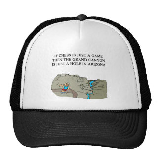 chess game player grand canyon hat