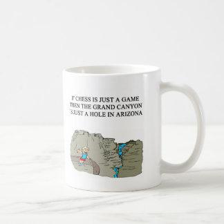 chess game player grand canyon mug