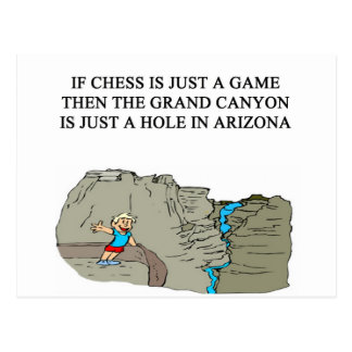 chess game player grand canyon postcards