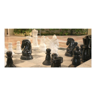 Chess Game Rack Card
