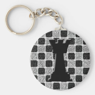 Chess Game Rook and Board Keychain