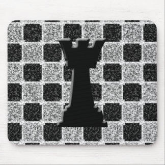 Chess Game Rook and Board Mouse Pad