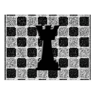 Chess Game Rook and Board Postcard