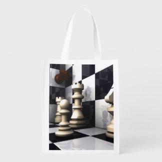 Chess Game Style Reusable Grocery Bag