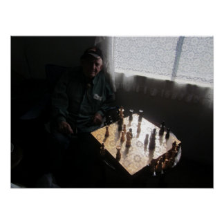 Chess Game with a Friend  Poster