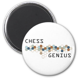 Chess Genius 2 Inch Round Magnet