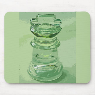 Chess Glass King Green Background Mouse Pads