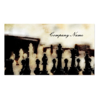 Chess Grunge Business Cards