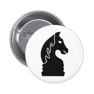 chess horse 2 inch round button