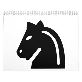 Chess horse calendar