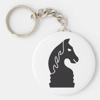 chess horse basic round button keychain