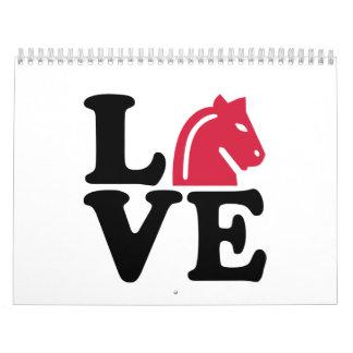 Chess horse love calendar