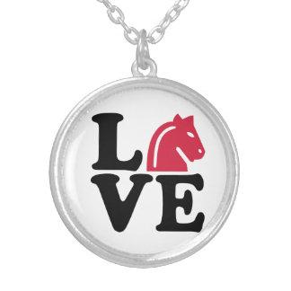 Chess horse love custom jewelry