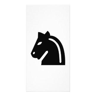 Chess horse photo card