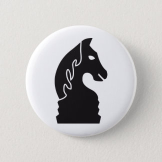 chess horse pinback button