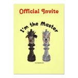 "Chess I'm the Master Dog 5"" X 7"" Invitation Card"