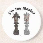 Chess I'm the Master Dog Drink Coasters