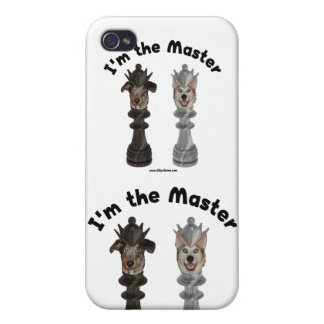 Chess I'm the Master Dog iPhone 4/4S Cases