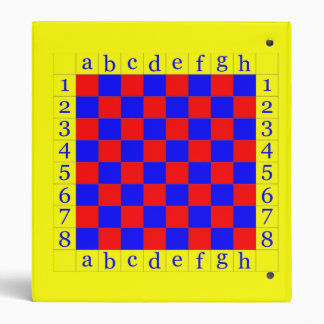 chess in blue and red 3 ring binder
