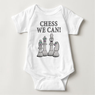 Chess incoming goods CAN Baby Bodysuit