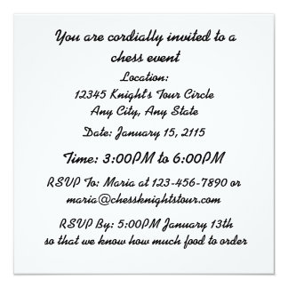 Chess Is A Sea In Which Gnat May Drink Elephant 5.25x5.25 Square Paper Invitation Card