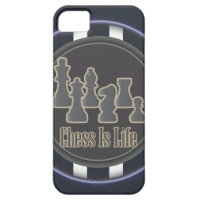 Chess is Life Blue iPhone 5 Case
