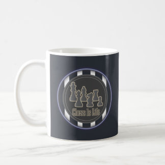 Chess Is Life Blue Mug
