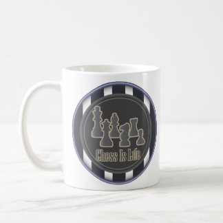 Chess is Life Blue Mugs