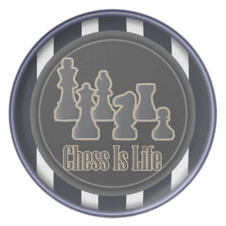 Chess is Life Blue Plate