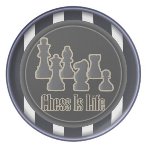 Chess is Life Blue Dinner Plates