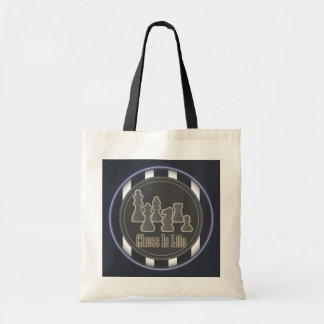 Chess Is Life Blue Tote Bag