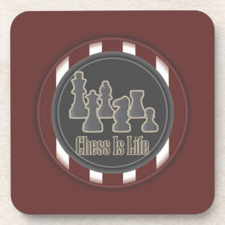 Chess is Life Red Beverage Coaster