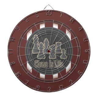 Chess Is Life Red Dartboard