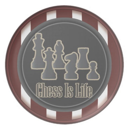 Chess is Life Red Dinner Plate