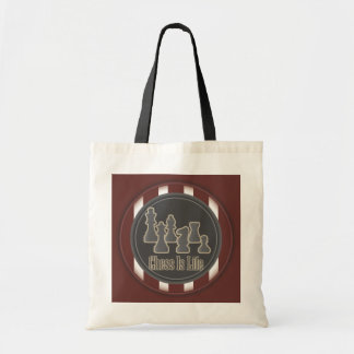 Chess Is Life Red Tote Bag