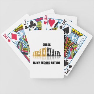 Chess Is My Second Nature (Reflective Chess Set) Bicycle Playing Cards