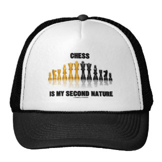 Chess Is My Second Nature (Reflective Chess Set) Trucker Hat