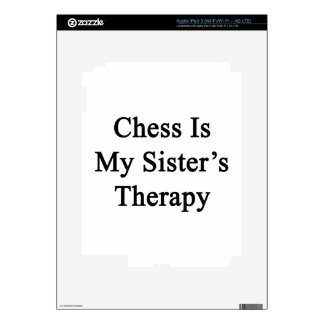 Chess Is My Sister's Therapy iPad 3 Skin