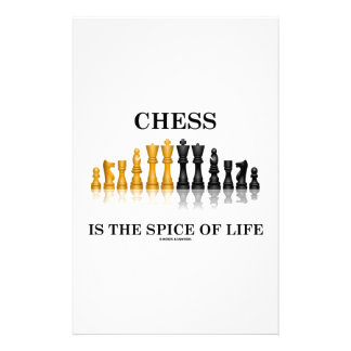 Chess Is The Spice Of Life (Reflective Chess Set) Stationery