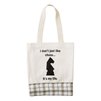 Chess It's My Life Zazzle HEART Tote Bag
