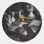 Chess - It's ony a Game Round Sticker