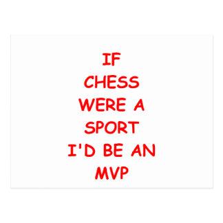 chess joke postcard