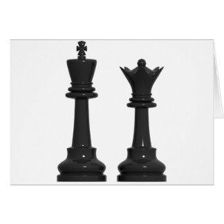 Chess King and Queen Humorous Birthday Card