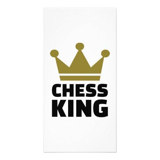 Chess king champion custom photo card