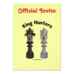 """Chess King Hunters Dogs 5"""" X 7"""" Invitation Card"""
